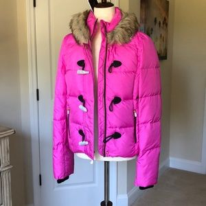 Juicy Couture Pink Puffer Coat
